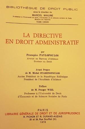La directive en droit administratif